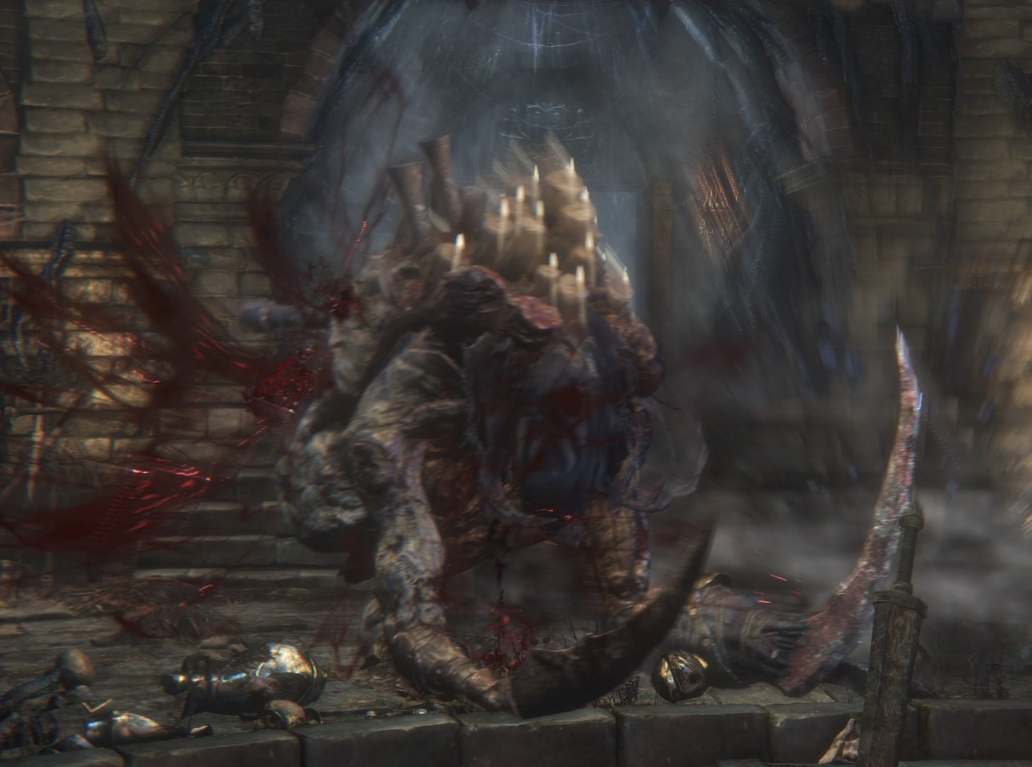 Undead Giant Blood Explosion