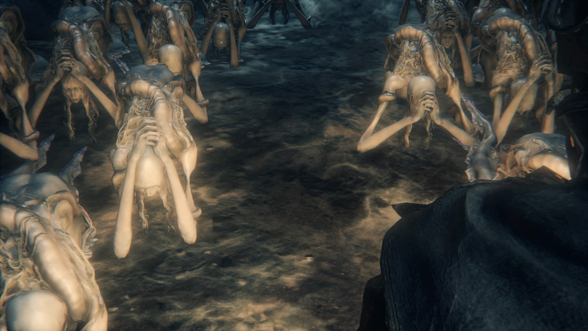 kos mother bloodborne wiki a congregation of snail women can be found praying in the cove near her corpse